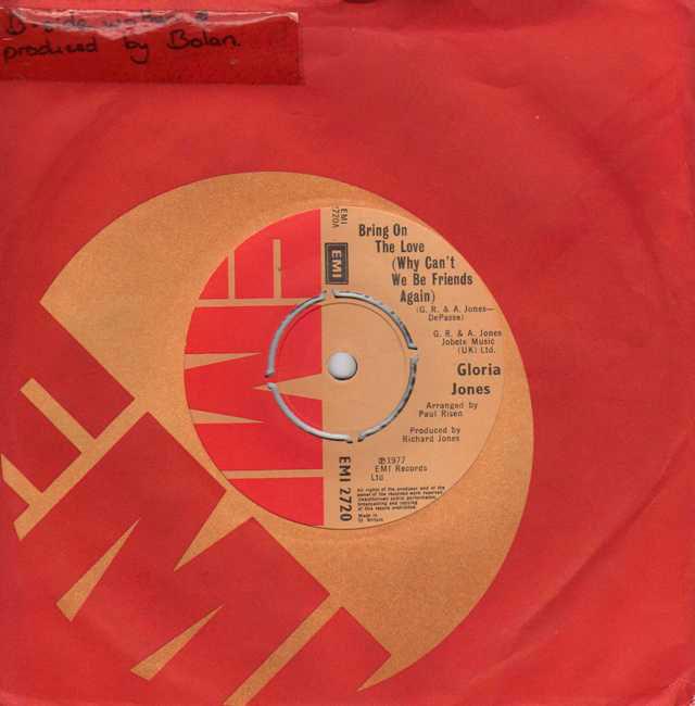 Gloria Jones Bring On The Love Records Lps Vinyl And Cds
