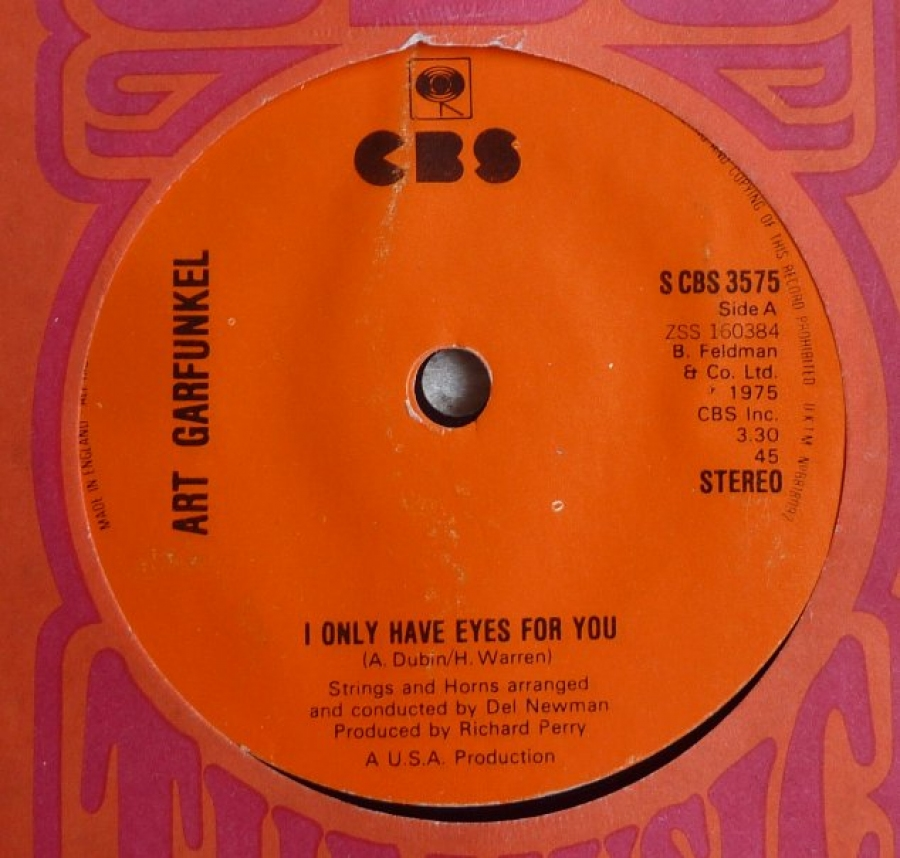 Art Garfunkel I Only Have Eyes For You 7 Inch Buy From
